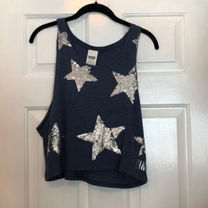 Pink XS Star Muscle Tee